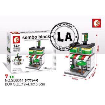 Harga Sembo Block SD6014 7-11 mini street building blocks Collection