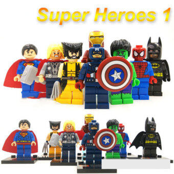 Harga 8PCs Marvel Super Heroes Avengers Minifigure Building Blocks Block Christmas
