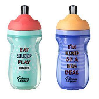 Harga Tommee Tippee Insulated Straw Bottle Purple/Aqua