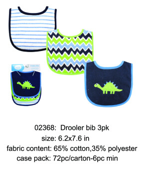 Harga Luvable Friends 3pk Drooler Bibs 3pk Dinosour