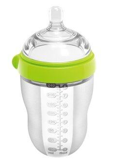 Harga Babykin PPSU Full Silicone Baby Milk Bottle 240ml (Green)