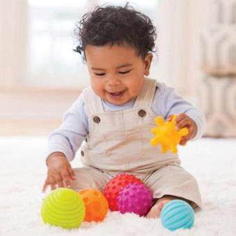 Harga Allwin Baby Touch Hand Ball Toys Training Ball Massage Soft Balls for Baby (6pcs)