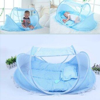 Harga SZHOWORLD Baby Travel Bed,Baby Bed Portable Folding Baby Crib Mosquito Net Portable Baby Cots Newborn Foldable Crib