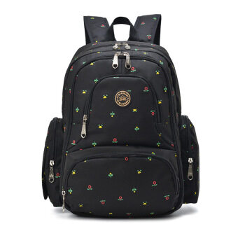 Harga 2016 New Large capacity multifunctional mummy backpack nappy bag baby diaper bags mommy maternity bag babies care product Black Flowers