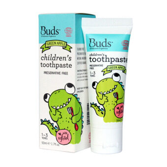 Harga Buds for Kids Children's Toothpaste with Xylitol (1-3 Yrs Old) - 50ML Green Apple