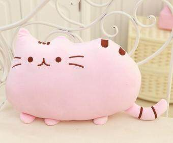 Harga Cute Biscuits Big Tail Fat Cat Meow Star Doll Pillow Creative Cat Plush Toys Birthday Gift- Pink