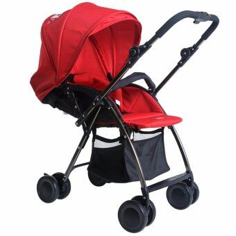 Harga Twomother Super Light Weight Foldable Baby Stroller AB-501 Red