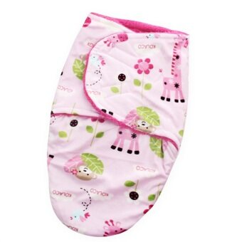 Harga Short Plush Double Little Swaddle For Baby Gray Monkeys & Giraffe