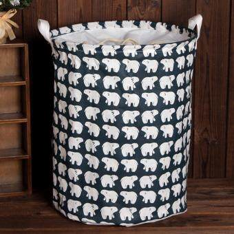 Harga Hot Sales Large Beam Laundry Basket Toy Storage Clothes Laundry Basket - Polar Bear