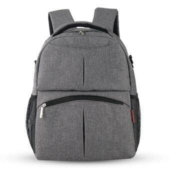 Harga Baby Diaper Backpack Multifunctional Mommy Bag Nappy Changing Mummy Backpack HOT Grey