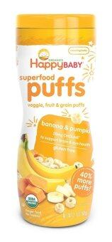Harga Happy Baby Organic Puffs (Banana & Pumpkin)