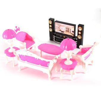 Harga MOON STORE Bobbi doll house toy TV + home theater,