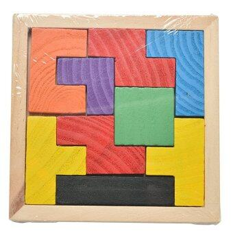 Harga Wooden Tetris Colorful Tangram Brain Teaser Puzzle Educational Kids Toy
