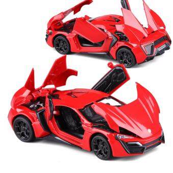 Harga New Arrival 1:32 Fast&Furious 7 Lykan Hypersport Diecast Model Car with Light & Sounds,Door Opening-Red