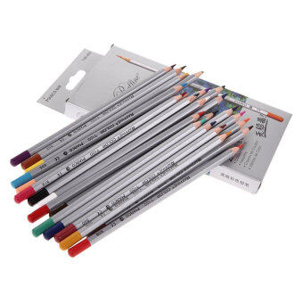 Harga niceEshop 24-Color Marco Profesional Oil Soft Core Premier Assorted Colored Pencils Scholar Homework Wooden Sharpened Drawing Writing Sketching Painting Watercolor Art Pencils Great Gift