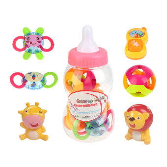 Harga 6 Pieces Fun Colorful Toy Play Set Baby Rattle and Teether Toy Play Set