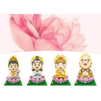 Harga Set of 4 Buddha Series Loz Nano/Diamond Block Figure/Figures [Birthday Gift/Present/DIY/Collection]