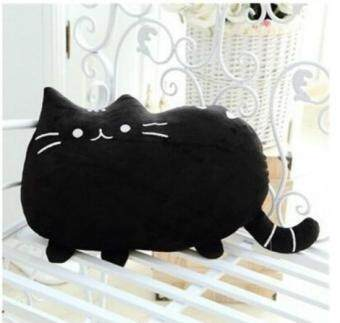 Harga Cute Biscuits Big Tail Fat Cat Meow Star Doll Pillow Creative Cat Plush Toys Birthday Gift- Black