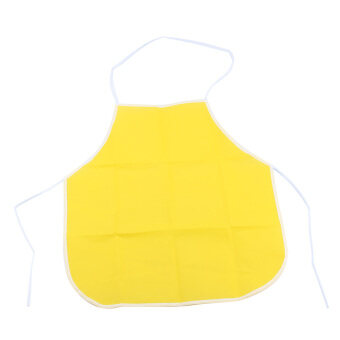 Harga Children Kids Craft Cooking Baking Art Painting Kitchen Dining Bibs Pinafore Aprons (Yellow)