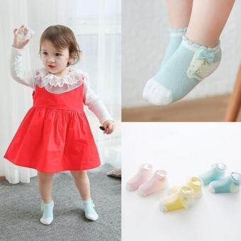 Harga Bear Fashion 3 Pairs Lace Girls Baby High Cotton Socks
