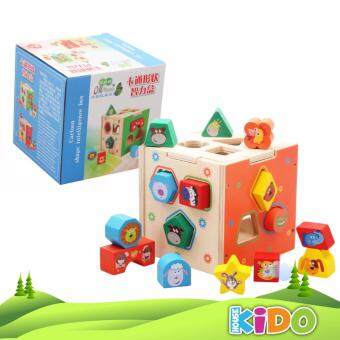 Harga Kido House - Early Learning Educational Wooden Toys Cartoon Shape Intelligence Box