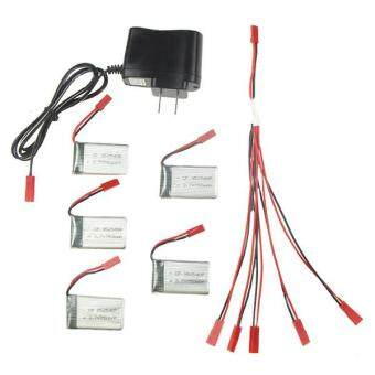 Harga MJX X300C X400 Spare Parts 3.7V 750mAh 5pcs Batteries with 5 in 1 Charger New A