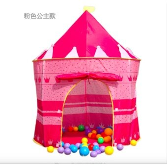 Harga Portable Kids Play Tent Castle Playhouse (Pink)