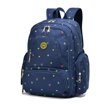 Harga 2016 New Large capacity multifunctional mummy backpack nappy bag baby diaper bags mommy maternity bag babies care product Blue Flowers