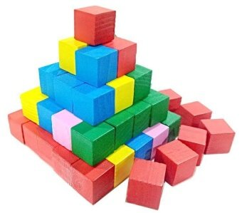 Harga Kid 25 Square Colour Stacking Bolcks 2cm Early Education Square Stacking Blocks