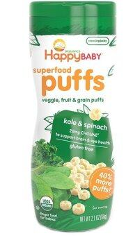 Harga Happy Baby Organic Puffs (Kale & Spinach)