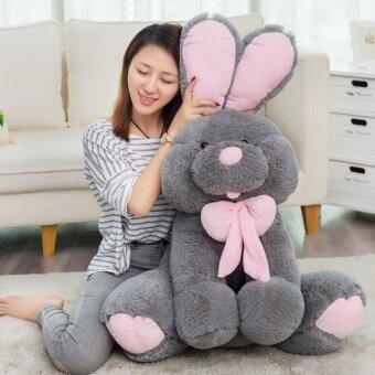 Harga 1pcs big size 70cm Cute American big rabbit stuffed dolls plush toy America rabbit animal baby kids toys