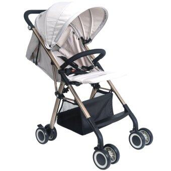 Harga Premium Light Weight Foldable Twomother Baby Stroller- Khaki AB-338