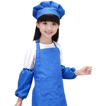 Harga Gracefulvara Cute Children Kids Plain Apron Kitchen Cooking Baking Cooking Craft Art Bib - Dark Blue