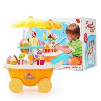 Harga SOKANO Sweet Shop Luxury Candy Cart- Yellow