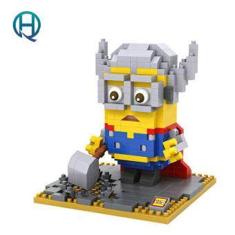Harga Mini Nano Blocks Minion LOZ Building Blocks The Avengers Thor Figures Diamond Blocks Compatible Legoelieds Toys 9538