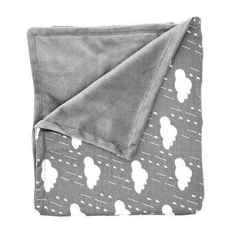 Harga LittleJump Extra Soft Reversible Blanket Minky Baby Blankets, Warm and Cozy Baby blanket swaddle for newborn -80 x 75cm, Grey Chevron mink blanket stroller blanket For Boys and Girls