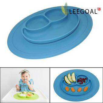 Harga leegoal Baby Feeding One-Piece Mini Happy Face Plate (Blue)
