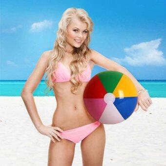 Harga Colorful Inflatable Beach Ball Kids Hot Toy Ball Children Game Play Beach Ball Swimming Pool Outdoor Fun Sport Toys Party Favors