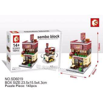 Harga Sembo Block SD6019 Pizza Shop mini street building blocks collection
