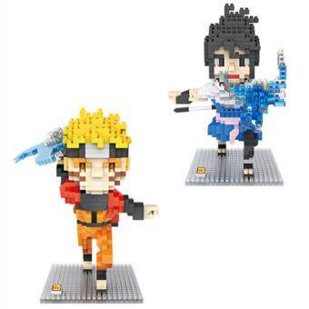 Harga Set of 2 Cute Naruto Series Naruto/Sasuke Loz Nano/Diamond Block Figure [Birthday]