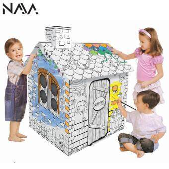 Harga NaVa Children DIY Creative Fun Doodle Color Painting House