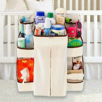 Harga Baby Bedding Set Cribs Hanging Bags Storage Bag Organizer Baby Diaper Nappy Pockets Babies Receive