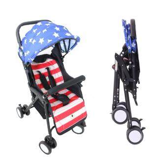 Harga Alpha Living (Louis Le Petit) Light Weight Foldable Baby Stroller (American Flag)