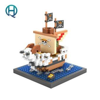 Harga Mini Nano Blocks ONE PIECE LOZ Building Blocks Going Merry Action Figure Diamond Blocks Compatible Legoelieds 9828