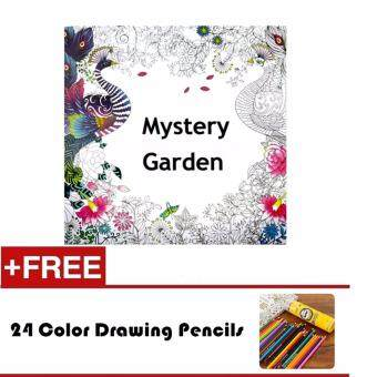 Harga 1 Pcs 24 Photos Adults Children Graffiti Book Mystery Garden An Inky Treasure Hunt And