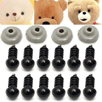 Harga Freebang 100Pcs 50pairs 6mm Black Plastic Safety Eye Toy For Teddy Eyes Puppet Doll Craft
