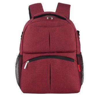 Harga Baby Diaper Backpack Multifunctional Mommy Bag Nappy Changing Mummy Backpack HOT Red