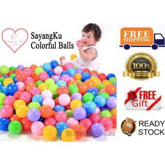 Harga READY STOCK!!! 100 Colorful Ball Fun Ball Soft Plastic Ocean Ball Baby Kid Toy Swim Pit Toy