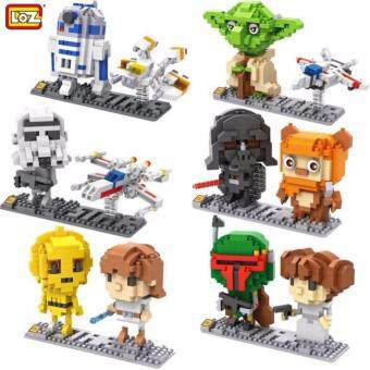 Harga Set of 6 Cute Starwars/Starwar/Star Wars Loz Nano/Diamond Block Figure[Birthday Gift/DIY/Collection]