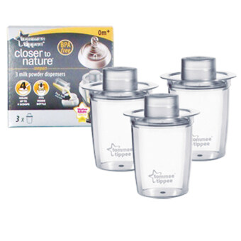 Harga Tommee Tippee Closer to Nature Milk Powder Dispensers 3's-431288/38